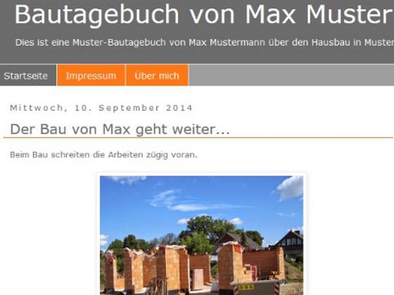bautagebuch bild grer anzeigen - Bautagebuch Muster