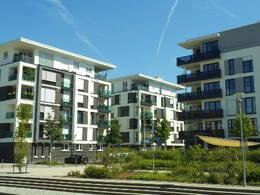 Eigentumswohnungen in einem Neubaugebiet