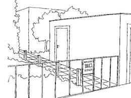 Skizze barrierefreier Garten