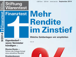 Cover Finanztest September 2014