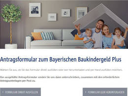 Screenshot Baukindergeld Plus BayernLabo