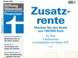 Cover Finanztest Oktober 2020